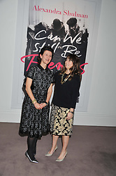 Left to right, MELANIE CLORE and ALEXANDRA SHULMAN at a party to celebrate the publication of Can We Still Be Friends by Alexandra Shulman held at Sotheby's, 34-35 New Bond street, London on 28th March 2012.