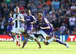 Stoke City's Peter Crouch (right) and West Bromwich Albion's Craig Dawson