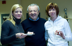 Spela Cerar, Zdenko Fajdiga and Sergeja Stefanisin at press conference of Slovenian Handball federation, when presented new web page http://www.rokometna-zveza.si/, on January 15, 2009, in RZS, Ljubljana, Slovenia. (Photo by Vid Ponikvar / Sportida)