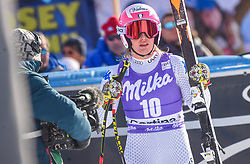 19.01.2019, Olympia delle Tofane, Cortina d Ampezzo, ITA, FIS Weltcup Ski Alpin, Abfahrt, Damen, im Bild Nadia Fanchini (ITA) // Nadia Fanchini of Italy reacts after her run in the ladie's Downhill of FIS ski alpine world cup at the Olympia delle Tofane in Cortina d Ampezzo, Italy on 2019/01/19. EXPA Pictures © 2019, PhotoCredit: EXPA/ Erich Spiess