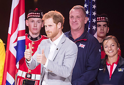 Prince Harry during the Invictus Games Closing Ceremony at the Air Canada Centre in Toronto, Canada.