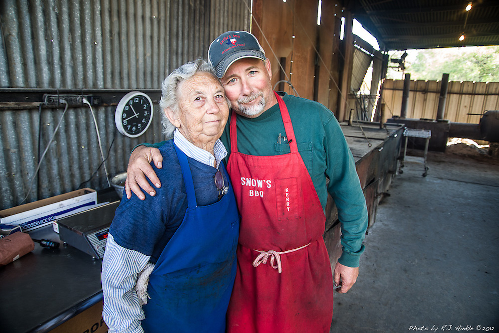 Pit master Tootsie Tomanetz, and owner Kerry Bexley of Snow's BBQ in Lexington, Texas