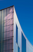 Close up of the poly-carbonate facade of the Trinity Laban Conservatoire of Music & Dance in Greenwich, London.<br /> <br /> Design: Herzog & de Meuron