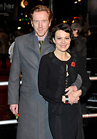 Damian Lewis with his wife Helen McCrory at the World Premiere of 'Harry Potter and the Deathly Hallows Part 1' held at the Odeon Leicester Square . London, England - 11.11.10 Picture By: Brian Jordan / Retna Pictures<br /> Job:<br /> Ref: BJN  <br /> -<br /> *World Rights*