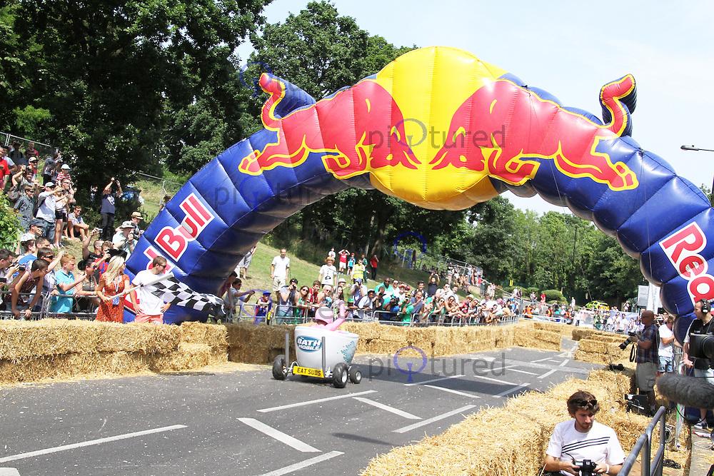 The Bath Mobile, Red Bull Soapbox Race, Alexandra Palace, London UK, 14 July 2013, (Photoby Richard Goldschmidt)