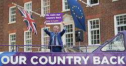 © Licensed to London News Pictures. 20/05/2016. London, UK.  UK Independence Party  leader Nigel Farage launches his EU referendum tour and bus. Campaigning by parties for and against the United Kingdom's membership of the European Union is well under way ahead of polling day on June 23, 2016. Photo credit: Peter Macdiarmid/LNP