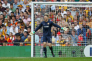 Newport County goalkeeper Joe Day (1) during the EFL Sky Bet League 2 Play Off Final match between Newport County and Tranmere Rovers at Wembley Stadium, London, England on 25 May 2019.