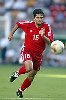 FOTBALL - CONFEDERATIONS CUP 2003 - GROUP B - TYRKIA v USA - 030619 - OKAN YILMAZ (TUR) - PHOTO STEPHANE MANTEY / DIGITALSPORT