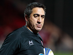 Toulon Coach Manny Edmonds during the pre match warm up<br /> <br /> Photographer Simon King/Replay Images<br /> <br /> European Rugby Champions Cup Round 6 - Scarlets v Toulon - Saturday 20th January 2018 - Parc Y Scarlets - Llanelli<br /> <br /> World Copyright © Replay Images . All rights reserved. info@replayimages.co.uk - http://replayimages.co.uk
