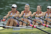 Lucerne SWITZERLAND,  USA W4X. Bow Stesha CARLE, Megan KALMOE, Esther LOFGREN and Natalie DELL, at the   2011 FISA World Cup on the Lake Rotsee.  15:12:22  Saturday   09/07/2011   [Mandatory Credit Peter Spurrier/ Intersport Images]