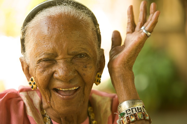 Panchita, 101 years old, believes there are no strangers at this world, just friend we haven't met yet