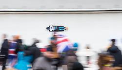 20.02.2016, Olympiaeisbahn Igls, Innsbruck, AUT, FIBT WM, Bob und Skeleton, Damen, Skeleton, 3. Lauf, im Bild Kim Meylemans (BEL) // Kim Meylemans of Belgium competes during women Skeleton 3rd run of FIBT Bobsleigh and Skeleton World Championships at the Olympiaeisbahn Igls in Innsbruck, Austria on 2016/02/20. EXPA Pictures © 2016, PhotoCredit: EXPA/ Johann Groder