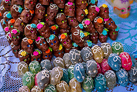 Sweets resembling skulls, Day of the Dead, Patzcuaro, Michoacan, Mexico