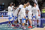 DESCRIZIONE : Campionato 2014/15 Dinamo Banco di Sardegna Sassari - Dolomiti Energia Aquila Trento Playoff Quarti di Finale Gara4<br /> GIOCATORE : Team Dinamo Sassari<br /> CATEGORIA : Before Pregame Fair Play<br /> SQUADRA : Dinamo Banco di Sardegna Sassari<br /> EVENTO : LegaBasket Serie A Beko 2014/2015 Playoff Quarti di Finale Gara4<br /> GARA : Dinamo Banco di Sardegna Sassari - Dolomiti Energia Aquila Trento Gara4<br /> DATA : 24/05/2015<br /> SPORT : Pallacanestro <br /> AUTORE : Agenzia Ciamillo-Castoria/L.Canu