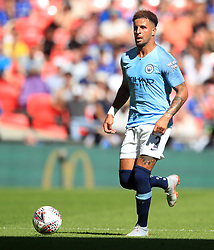 """Manchester City's Kyle Walker during the Community Shield match at Wembley Stadium, London. PRESS ASSOCIATION Photo. Picture date: Sunday August 5, 2018. See PA story SOCCER Community Shield. Photo credit should read: Adam Davy/PA Wire. RESTRICTIONS: EDITORIAL USE ONLY No use with unauthorised audio, video, data, fixture lists, club/league logos or """"live"""" services. Online in-match use limited to 75 images, no video emulation. No use in betting, games or single club/league/player publications."""