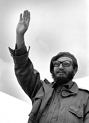 BEIJING, Feb. 19, 2008 (Xinhua) -- This file photo taken on Dec. 22, 1961 shows Cuban leader Fidel Castro waving his hand during a conference in Havana. Fidel Castro announced on Feb. 19, 2008 that he would not aspire to or accept the positions of president of the Council of State and commander in chief, in a statement published on the website of the official Granma newspaper. (Xinhua/File) (lyi) (Credit Image: © Str/Xinhua via ZUMA Wire)