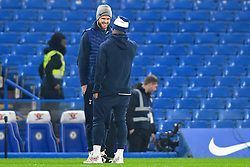 January 24, 2019 - London, England, United Kingdom - Tottenham midfielder Eric Dier has a joke with his colleague during the Carabao Cup match between Chelsea and Tottenham Hotspur at Stamford Bridge, London on Thursday 24th January 2019. (Credit Image: © Mark Fletcher/NurPhoto via ZUMA Press)