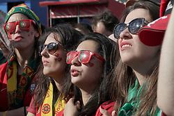 June 20, 2018 - EUM20180620DEP19.JPG.MOSCÚ, Rusia, Soccer/Futbol-Mundial.- Aspectos de los aficionados en las inmediaciones del Estadio Luzhniki, previo al encuentro entre Portugal y Marruecos, que tuvo lugar este 20 de junio de 2018 como parte de la actividad del Grupo B del Mundial Rusia 2018. Foto: Agencia EL UNIVERSAL/Luis Cortes/AFBV (Credit Image: © El Universal via ZUMA Wire)
