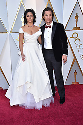 Camila Alves and Matthew McConaughey walking the red carpet as arriving for the 90th annual Academy Awards (Oscars) held at the Dolby Theatre in Los Angeles, CA, USA, on March 4, 2018. Photo by Lionel Hahn/ABACAPRESS.COM