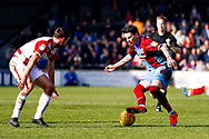 Scunthorpe United midfielder Adam Hammill (47) in action  during the EFL Sky Bet League 1 match between Scunthorpe United and Doncaster Rovers at Glanford Park, Scunthorpe, England on 23 February 2019.