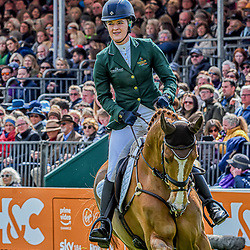 Clare Abbot Badminton Horse Trials Gloucester England UK May 2019. Clare Abbot equestrian event representing Ireland riding Euro Prince in the Badminton Horse trials 2019 Badminton Horse trials 2019 Winner Piggy French wins the title