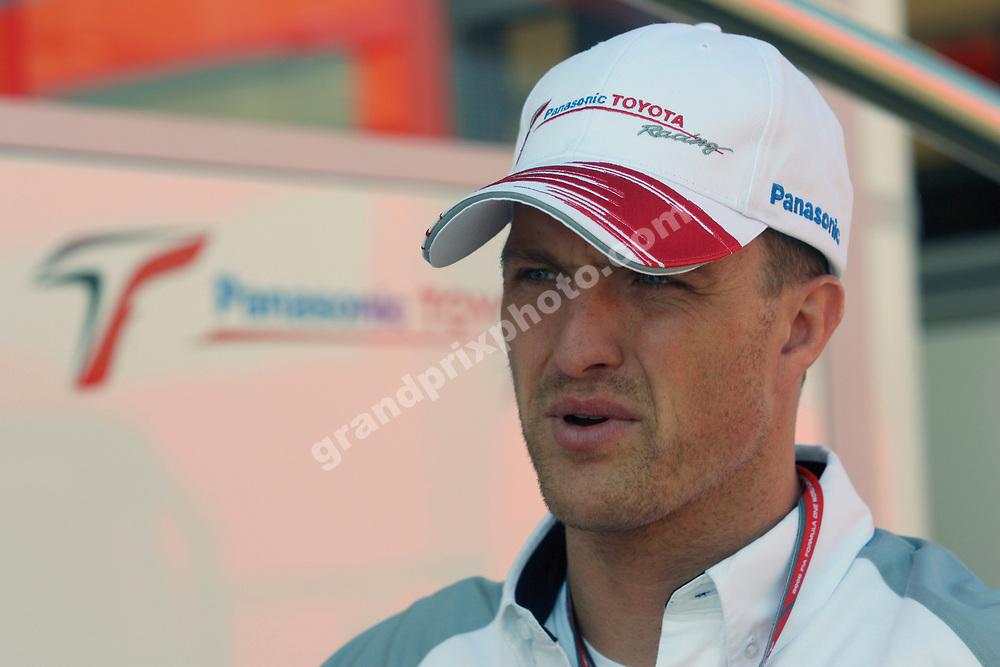 Ralf Schumacher (Toyota) prior to the 2006 British Grand Prix at Silverstone. Photo:Grand Prix Photo