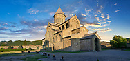 Pictures & images of the Eastern Orthodox Georgian Svetitskhoveli Cathedral (Cathedral of the Living Pillar) , Mtskheta, Georgia (country). A UNESCO World Heritage Site.<br /> <br /> Currently the second largest church building in Georgia, Svetitskhoveli Cathedral is a masterpiece of Early Medieval architecture completed in 1029 by Georgian architect Arsukisdze on an earlier site dating back toi the 4th century. .<br /> <br /> Visit our MEDIEVAL PHOTO COLLECTIONS for more   photos  to download or buy as prints https://funkystock.photoshelter.com/gallery-collection/Medieval-Middle-Ages-Historic-Places-Arcaeological-Sites-Pictures-Images-of/C0000B5ZA54_WD0s<br /> <br /> Visit our REPUBLIC of GEORGIA HISTORIC PLACES PHOTO COLLECTIONS for more photos to browse, download or buy as wall art prints https://funkystock.photoshelter.com/gallery-collection/Pictures-Images-of-Georgia-Country-Historic-Landmark-Places-Museum-Antiquities/C0000c1oD9eVkh9c
