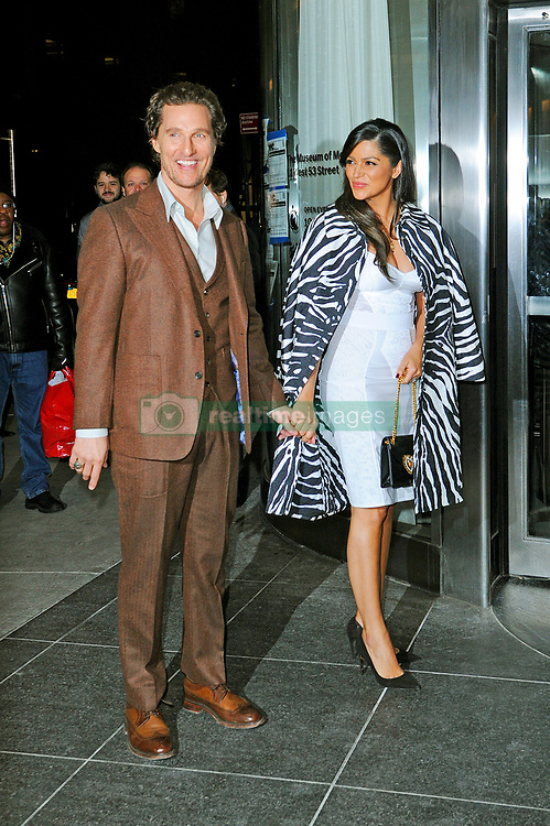 """Matthew McConaughey and Camila Alves arrive to the MoMA for """"Serenity"""" premiere. 23 Jan 2019 Pictured: Matthew McConaughey and Camila Alves. Photo credit: MEGA TheMegaAgency.com +1 888 505 6342"""