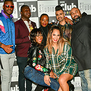 Alfie Carreira, Jordan Charles,Tina T and Jay Kamiraz - Mr Fabulous guest (B) and Corene Campbell, HunnyB (F) attend BBC Club at W12 Studios Lunch party on 14 March 2019, London, UK.