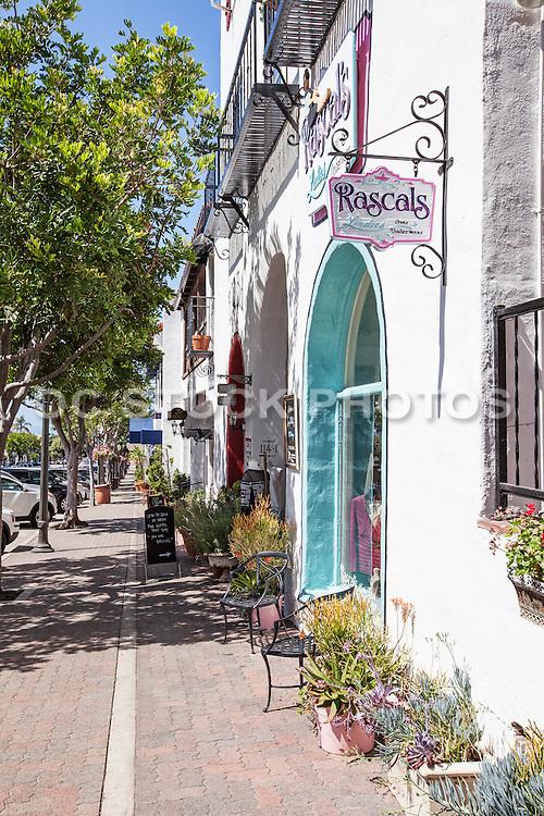 Shops Along Del Mar Street in San Clemente
