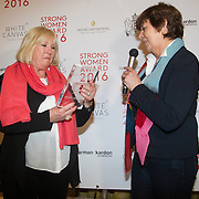 NLD/Amsterdam/20160321 - The Strong Woman Award 2016, Rita Verdonk reikt de Strong Women Award uit aan Willeke Alberti