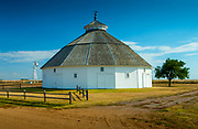 Kansas / Mullinville / Fromme-Birney Round Barn / Restored / Built In 1917 / National Register Of Historic<br /> Places