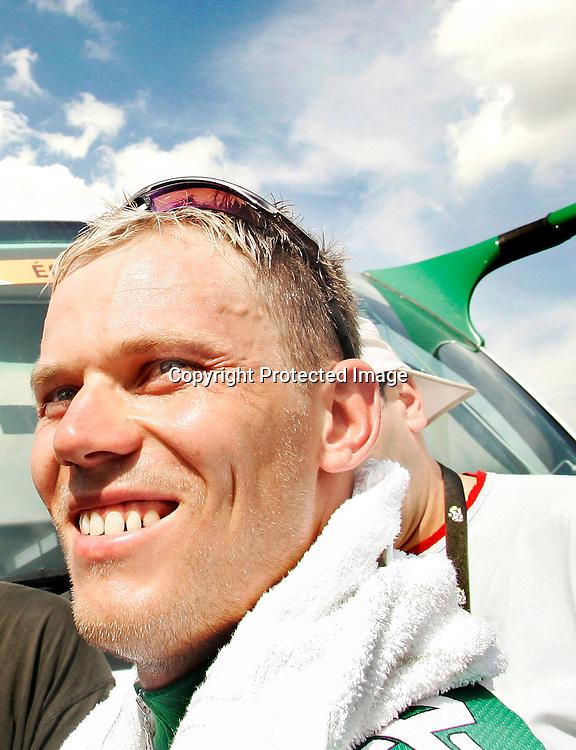 Les Essarts, Frankrike 20050703. Tour de France : Thor Hushovd ble nummer to etter Tom Boonen på den andre etappen i Tour de France...Foto: Daniel Sannum Lauten/ Dagbladet *** Local Caption *** Hushovd,Thor..
