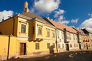 Classist and Copf style houses - ( Gy?r )  Gyor Hungary .<br /> <br /> Visit our HUNGARY HISTORIC PLACES PHOTO COLLECTIONS for more photos to download or buy as wall art prints https://funkystock.photoshelter.com/gallery-collection/Pictures-Images-of-Hungary-Photos-of-Hungarian-Historic-Landmark-Sites/C0000Te8AnPgxjRg