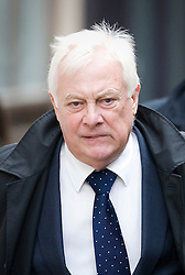 © Licensed to London News Pictures. 23/01/2012. London, UK.  Lord Patten, BBC Trust chairman, arriving at the Royal Courts of Justice on January 23rd, 2012, to give evidence at the Leveson Inquiry in to press standards. Photo credit : Ben Cawthra/LNP