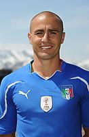 Fotball<br /> Italia<br /> Foto: Insidefoto/Digitalsport<br /> NORWAY ONLY<br /> <br /> Fabio CANNAVARO<br /> <br /> Foto Ufficiale Nazionale Italia - Coppa del Mondo Sudafrica 2010<br /> Sestriere 26.05.2010