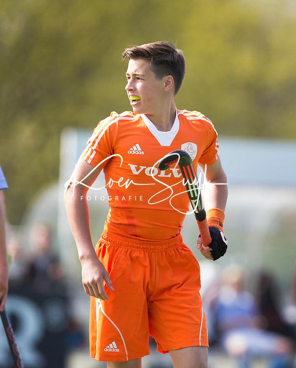 AMSTELVEEN - MAX BRONCKERS  van Bl'daal, Oefenwedstrijd tussen het Nederlands Team Jongens B tegen Bloemendaal A1. COPYRIGHT KOEN SUYK