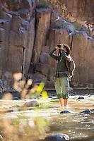 Hiking from the west side trail head of Aravaipa Canyon Preserve, AZ.