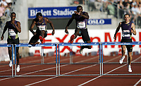 Friidrett , 5. juni 2010 , Bislett Games , Diamond League ,<br /> Kerron Clement , USA 400 m hurdles<br /> Bershawn Jackson<br /> David Greene<br /> Isa Phillips