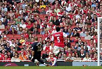 Photo: Olly Greenwood.<br />Arsenal v West Ham United. The Barclays Premiership. 07/04/2007. West Ham's Bobby Zamora scores