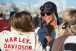 Jessi Combs at The Race of Gentlemen. Wildwood, NJ, USA. October 11, 2015.  Photography ©2015 Michael Lichter.