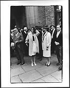 Stanley Wise, Ghislaine Maxwell, Henrietta Newman, Lord Birdwood, Marriage of the Earl of Woolton to hon Sophie Birdwood. St. Paul's Knightsbridge. London. April 1987.