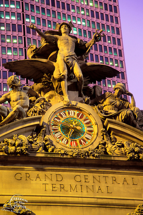 Grand Central Terminal, Statue of Mercury, Manhattan, New York