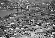 Ackroyd 02104-5. March 29, 1950. NW Portland UP rail yards north of Broadway Bridge.