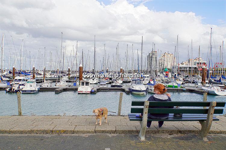 Nederland, Breskens, 5-9-2019 Jachthaven, plezierhaven, van deze kustplaats in zeeland, zeeuws vlaanderen .Foto: Flip Franssen