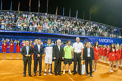 During flower ceremony after final of singles at 25th Vegeta Croatia Open Umag, on July 27, 2014, in Stella Maris, Umag, Croatia. Photo by Urban Urbanc / Sportida