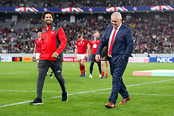 Wales Head Coach Warren Gatland appears dejected as he leaves teh pitch after the final whistle of the 2019 Rugby World Cup bronze final match at Tokyo Stadium.