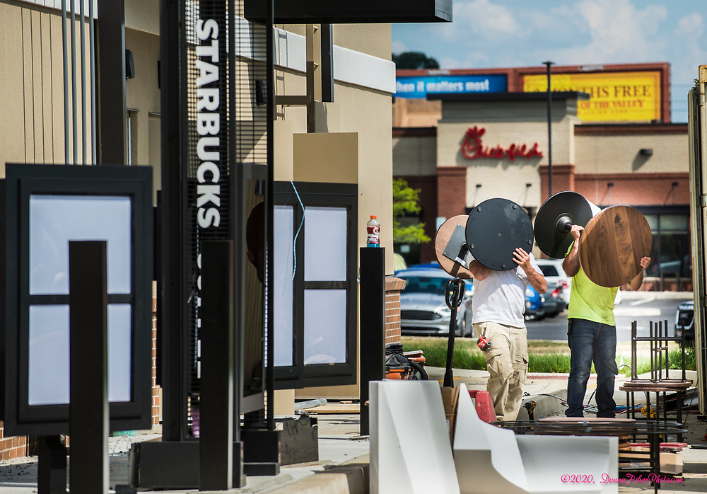 At 2630 MacArthur Road, site of the former Pier 1 Imports, a new strip of four shops is nearly completed. Among the new businesses are Starbucks and Jersey Mike's. Scenes along MacArthur Road in Whitehall Twp., Lehigh County, Pa.. Picture made June, 2020.<br />  Donna Fisher Photography, LLC