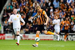 Hull City's Michael Dawson in action - Photo mandatory by-line: Matt McNulty/JMP - Mobile: 07966 386802 - 24/05/2015 - SPORT - Football - Hull - KC Stadium - Hull City v Manchester United - Barclays Premier League