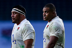 Kyle Sinckler of England and Billy Vunipola of England - Mandatory by-line: Robbie Stephenson/JMP - 21/11/2020 - RUGBY - Twickenham Stadium - London, England - England v Ireland - Autumn Nations Cup